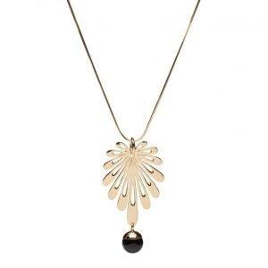 Syster P Deco Flower Necklace Black Onyx kaulakoru