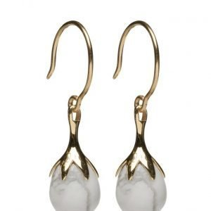 Syster P Dripping Earrings Gold Howalite korvakorut