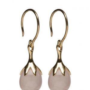 Syster P Dripping Earrings Gold Rose Quartz korvakorut