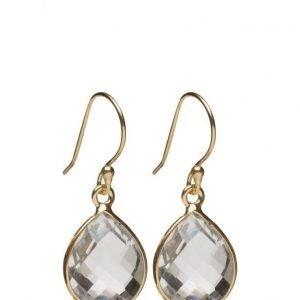 Syster P Raindrop Earrings Gold Crystal korvakorut