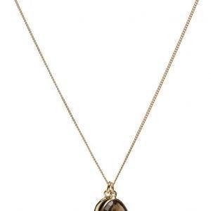Syster P Single Nugget Necklace Gold Smokey kaulakoru