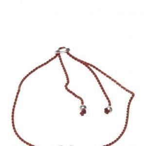 Syster P Sparkle Bracelet Heart Silver Coral rannekoru