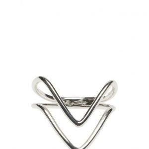 Syster P Tiny Arrow Fingertip Ring Silver sormus
