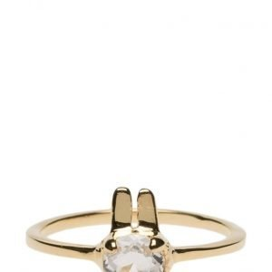 Syster P Tiny Rabbit Ring Gold sormus