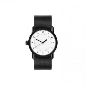 TID Watches No.1 36 White / Black Lea Kello Valkoinen
