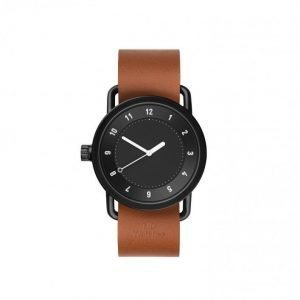 TID Watches No.1 Black/Tan Leather Kello Black