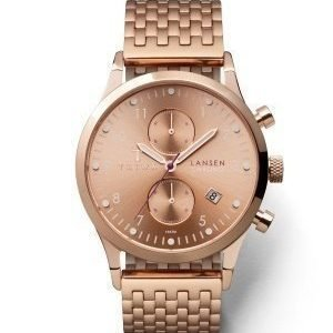 TRIWA Rose Lansen Chrono 1414 Rose Brace