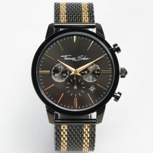 Thomas Sabo Rebel Spirit Chrono Mesh Black / Gold