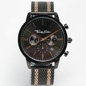 Thomas Sabo Rebel Spirit Chrono Mesh Black / Rosé