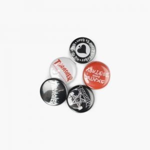 Thrasher Logo Buttons 5 Pack