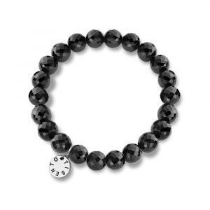 Ti Sento Elastic Bracelet With Black Beads Rannekoru