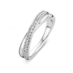 Ti Sento Ring Sormus Valentine Silver Cz Stone
