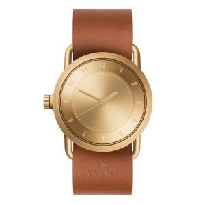 Tid Watches Tid No.1 Kulta Rannekello Tan Nahkaranneke 36 Mm