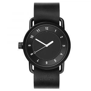 Tid Watches Tid No.1 Musta Rannekello Black Nahkaranneke