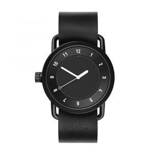 Tid Watches Tid No.1 Musta Rannekello Black Nahkaranneke 36 Mm