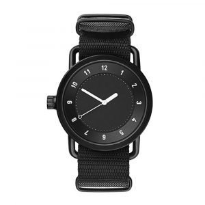 Tid Watches Tid No.1 Musta Rannekello Black Nylon 36 Mm