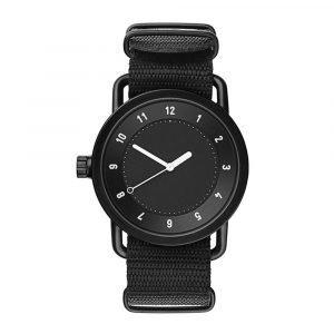 Tid Watches Tid No.1 Musta Rannekello Black Nylon 36 Mm