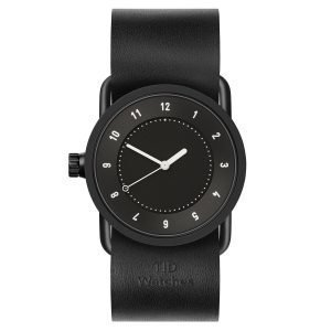 Tid Watches Tid No.1 Musta Rannekello Musta Nahkaranneke 33 Mm