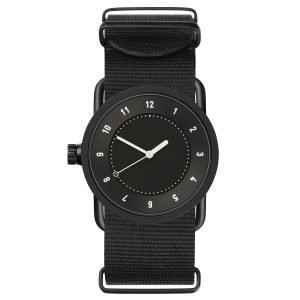 Tid Watches Tid No.1 Musta Rannekello Musta Nylon 33 Mm