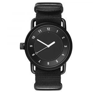 Tid Watches Tid No.1 Musta Rannekello Nato Black Nylon