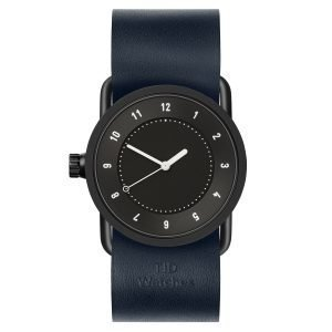 Tid Watches Tid No.1 Musta Rannekello Navy Nahkaranneke 33 Mm