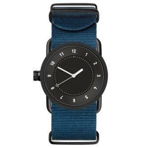 Tid Watches Tid No.1 Musta Rannekello Sininen Nylon 33 Mm