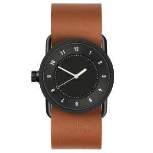 Tid Watches Tid No.1 Musta Rannekello Tan Nahkaranneke 33 Mm