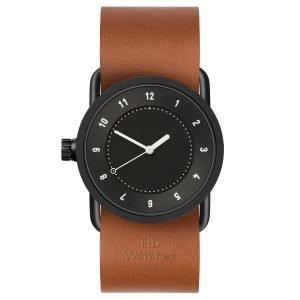 Tid Watches Tid No.1 Musta Rannekello Tan Nahkaranneke 33 Mm
