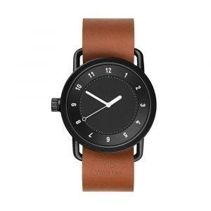 Tid Watches Tid No.1 Musta Rannekello Tan Nahkaranneke 36 Mm
