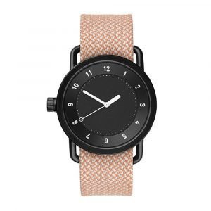 Tid Watches Tid No.1 Musta Rannekello Twain Salmon 36 Mm