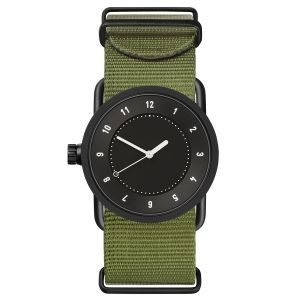 Tid Watches Tid No.1 Musta Rannekello Vihreä Nylon 33 Mm