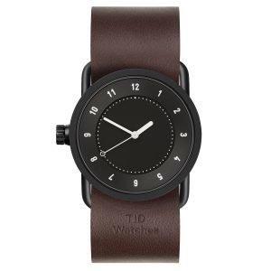 Tid Watches Tid No.1 Musta Rannekello Walnut Nahkaranneke 33 Mm