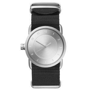 Tid Watches Tid No.1 Teräs Rannekello Musta Nylon 33 Mm