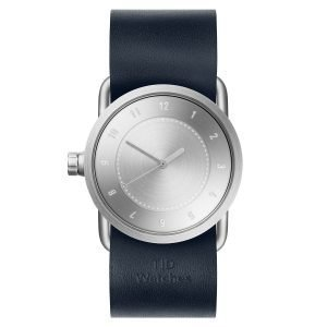 Tid Watches Tid No.1 Teräs Rannekello Navy Nahkaranneke 33 Mm