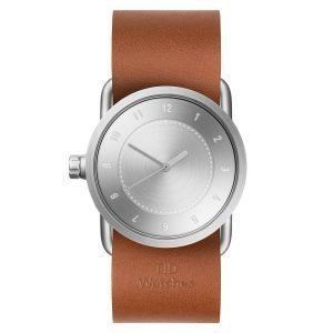 Tid Watches Tid No.1 Teräs Rannekello Tan Nahkaranneke 33 Mm