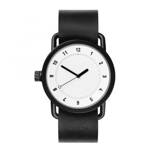 Tid Watches Tid No.1 Valkoinen Rannekello Black 36 Mm