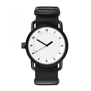 Tid Watches Tid No.1 Valkoinen Rannekello Black Nylon 36 Mm