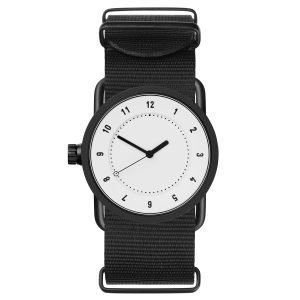 Tid Watches Tid No.1 Valkoinen Rannekello Musta Nylon 33 Mm