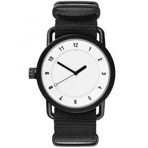 Tid Watches Tid No.1 Valkoinen Rannekello Nato Black Nylon