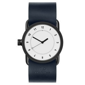 Tid Watches Tid No.1 Valkoinen Rannekello Navy Nahkaranneke 33 Mm