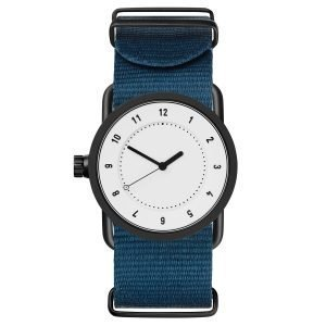Tid Watches Tid No.1 Valkoinen Rannekello Sininen Nylon 33 Mm