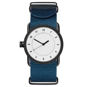 Tid Watches Tid No.1 Valkoinen Rannekello Sininen Nylon 33 Mm