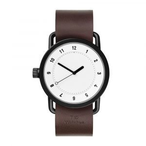 Tid Watches Tid No.1 Valkoinen Rannekello Tan 36 Mm