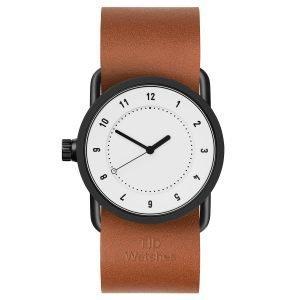 Tid Watches Tid No.1 Valkoinen Rannekello Tan Nahkaranneke 33 Mm