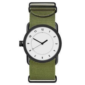 Tid Watches Tid No.1 Valkoinen Rannekello Vihreä Nylon 33 Mm