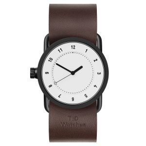 Tid Watches Tid No.1 Valkoinen Rannekello Walnut Nahkaranneke 33 Mm