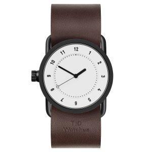 Tid Watches Tid No.1 Valkoinen Rannekello Walnut Nahkaranneke 33 Mm