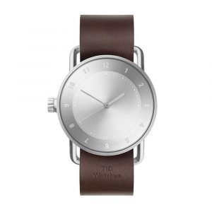 Tid Watches Tid No.2 Rannekello Walnut Nahkaranneke 40 Mm
