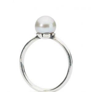 Trollbeads Grey Pearl Ring sormus