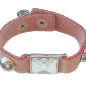 VÅGA Armband Läder Bling Rosa
